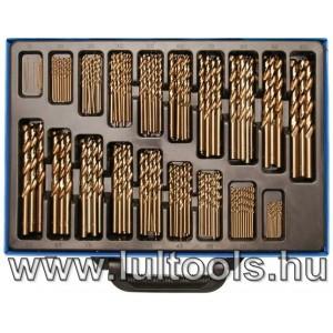 BGS-2000 Spirálfúró készlet HSS 5% kobaltötvözet 1-10mm 170 darabos