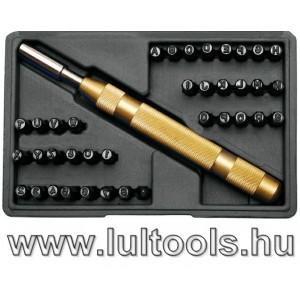 BGS-3043 Szám és betűbeütő készlet