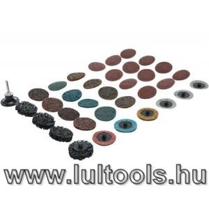 Csiszolókorong - Velcro korong klt 35 darabos