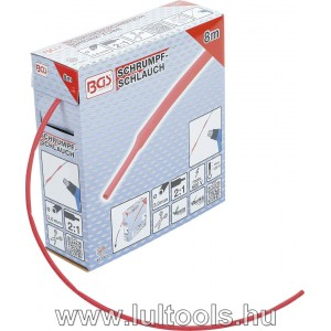 BGS-6923-1 Zsugorcső dobozban piros Ø 3mm 8m
