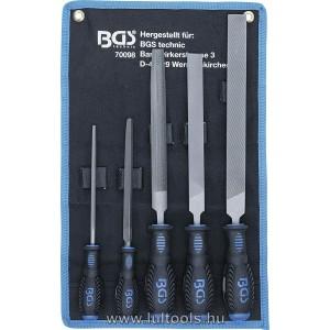 BGS Műhelyreszelő készlet 5 darabos