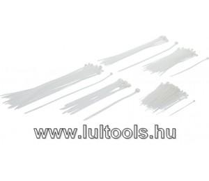 Kábelkötegelő-készlet fehér különböző méretek 250 darabos