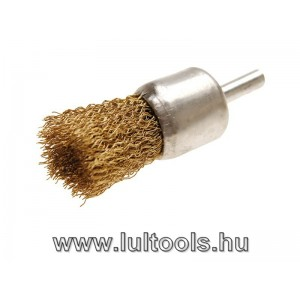 Ecset-drótkefe sárgaréz anyagú Ø 25mm