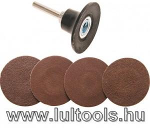 Csiszolókorong-/Velcro korong készlet Ø50mm BGS-8590