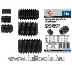 BGS-88156 Hernyócsavar készlet | 91 darabos