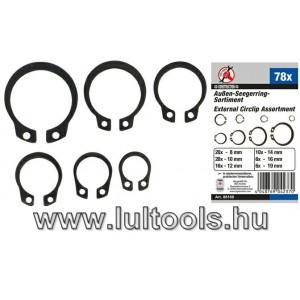 BGS-88168 Külső seegergyűrű készlet | Ø 3 - 19 mm | 78 darabos