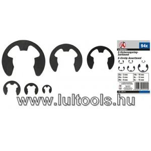 BGS-88174 E-biztosítógyűrű készlet | 3 -15 mm | 94 darabos
