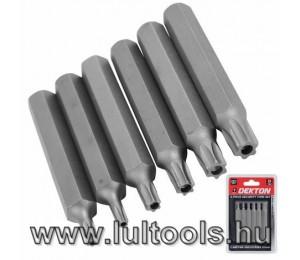 Bit készlet TORX T20-T50 75 mm, 6 részes DT65460