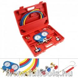 Hűtő-Klíma nyomásmérő készlet