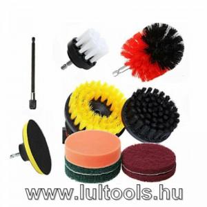 Tisztító kefe készlet fúróhoz 11 darabos KD10669