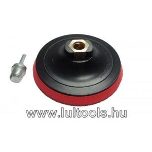 Tépőzáras gumitányér, csapos/menetes 125mm
