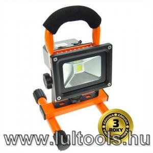 LED reflektor 10 W, hordozható, újratölthető, 700lm
