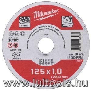 Milwaukee Vágókorong fémhez Wscs41/ 125 x 1 mm