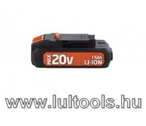 PowerPlus Dual Power Li-Ion akkumulátor 20V 1,5Ah POWDP9010
