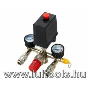 Nyomáskapcsoló kompresszorhoz mérőórákkal