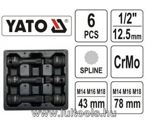 Yato Levegős Spline bitkészlet (12 szög) YT10652