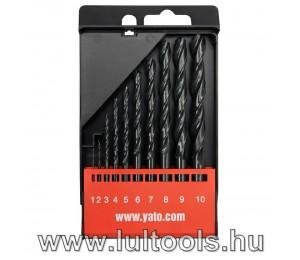 Csigafúró készlet HSS 1-10mm 10 részes YT-4461
