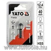 Kúpos süllyesztő fémre HSS 12.4mm YT-44724