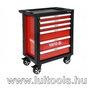 Yato YT-55300 szerszámkocsi, szerszámokkal 177db-os, 6 fiókos
