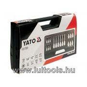 Bithegy-dugókulcs készlet 18 részes Torx  YATO