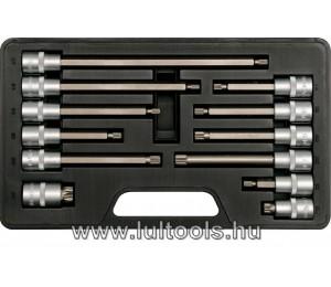 """Bithegy-dugókulcs készlet 12 részes Spline 1/2"""" M6-M17 YATO"""