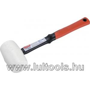 Csempekímélő gumikalapács üvegszálas nyéllel, fehér gumi 50 mm