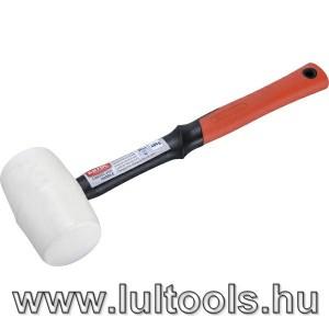Csempekímélő gumikalapács üvegszálas nyéllel, fehér gumi 60 mm