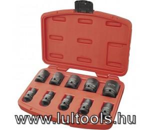 "Gépi (impakt) dugófej klt. 1/2"", 10db, 9-27mm"