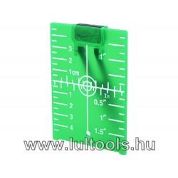 Lézeres céltábla szintezőhöz, ZÖLD, 105×75mm