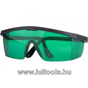 Lézeres szemüveg vízszintezőhöz, ZÖLD