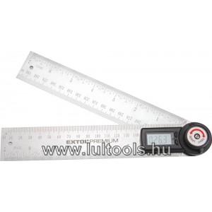 digitális szögmérő-vonalzó 2x200mm