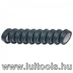 Szigetelő szalag, 10db-os, fekete 19mm×10m