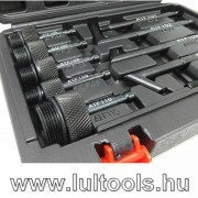 Váltóolaj betöltő készlet 13 adapterrel, pneumatikus