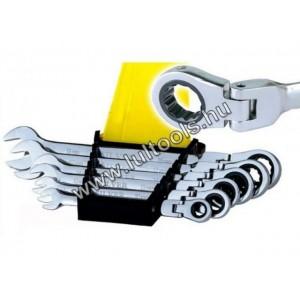 Silver KS-006-01 csuklós racsnis csillag-villás kulcs klt