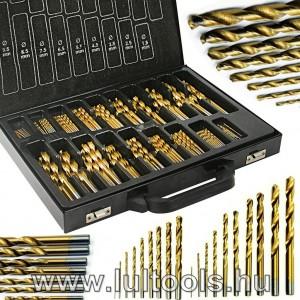 170 részes HSS titánium csigafúró készlet 1-10mm