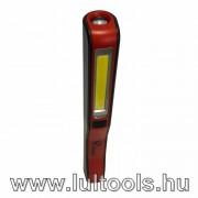 Led-es akkus szerelőlámpa usb töltővel