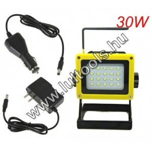 Akkumulátoros LED reflektor 30w